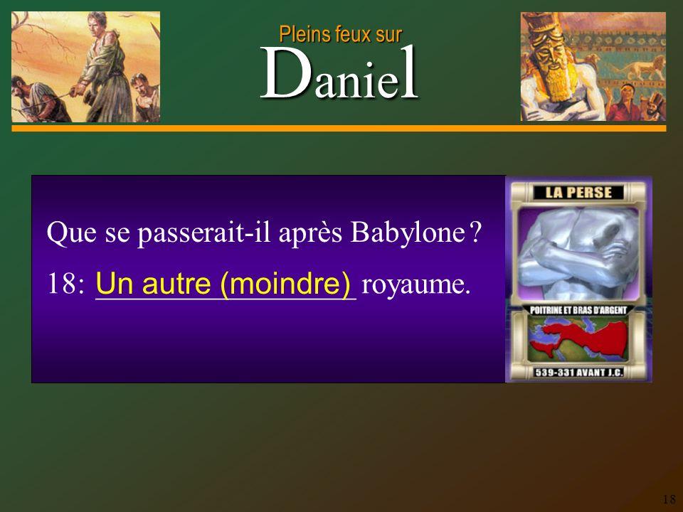 Que se passerait-il après Babylone