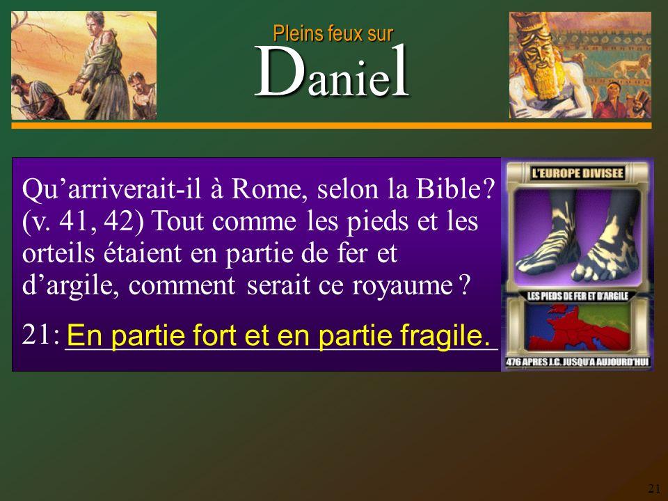 Qu'arriverait-il à Rome, selon la Bible. (v