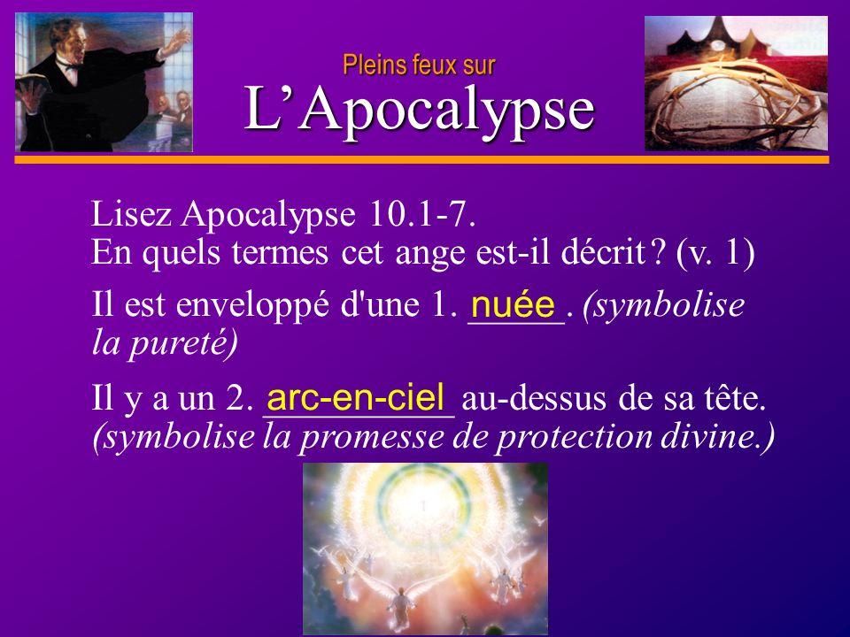 L'Apocalypse Lisez Apocalypse 10.1-7.
