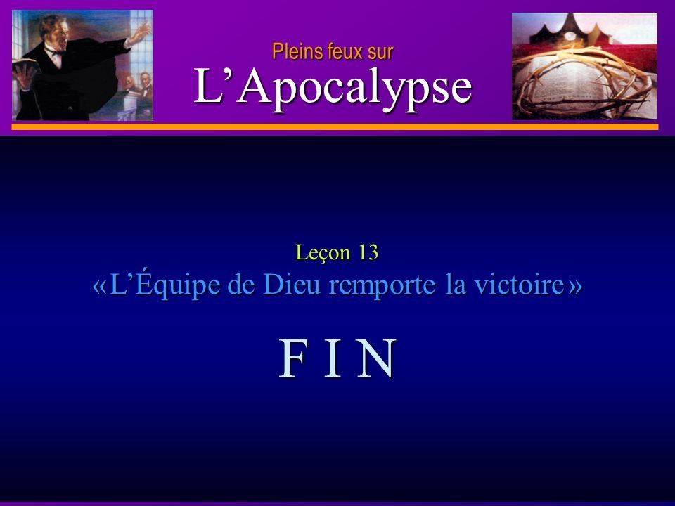 Leçon 13 « L'Équipe de Dieu remporte la victoire »