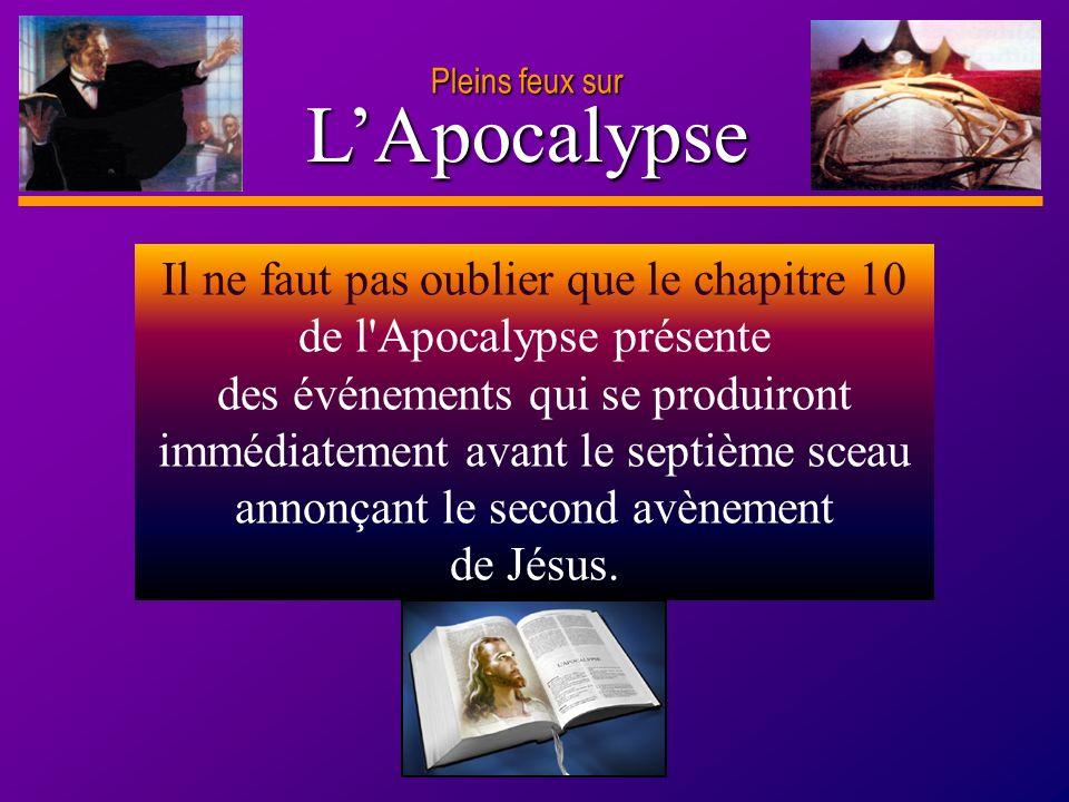 Pleins feux surL'Apocalypse.