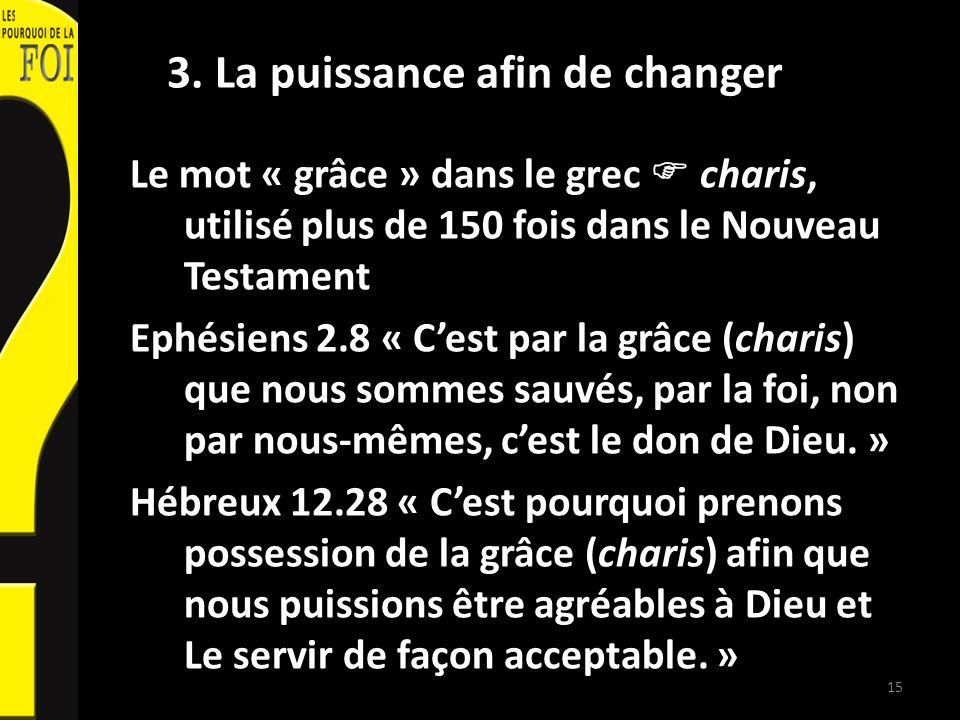 3. La puissance afin de changer