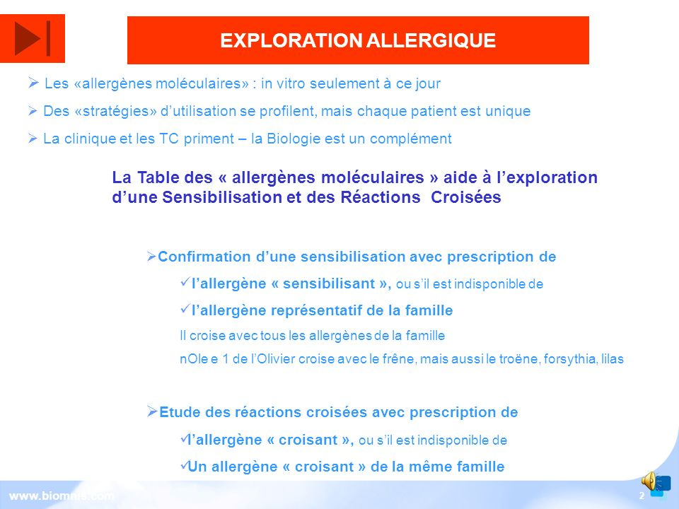 EXPLORATION ALLERGIQUE