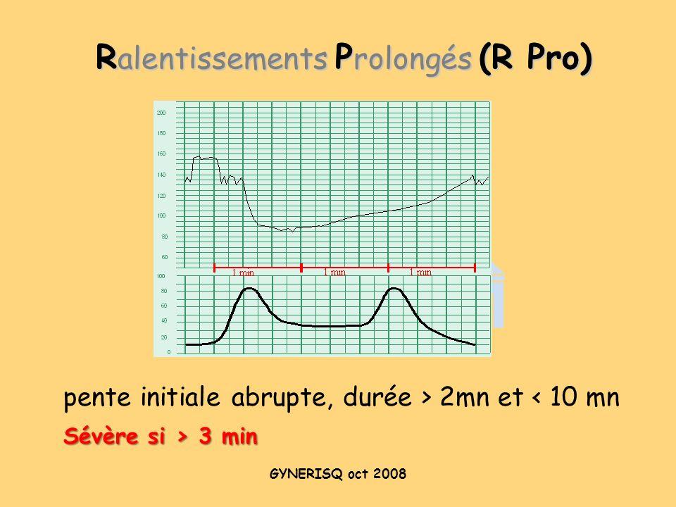 Ralentissements Prolongés (R Pro)