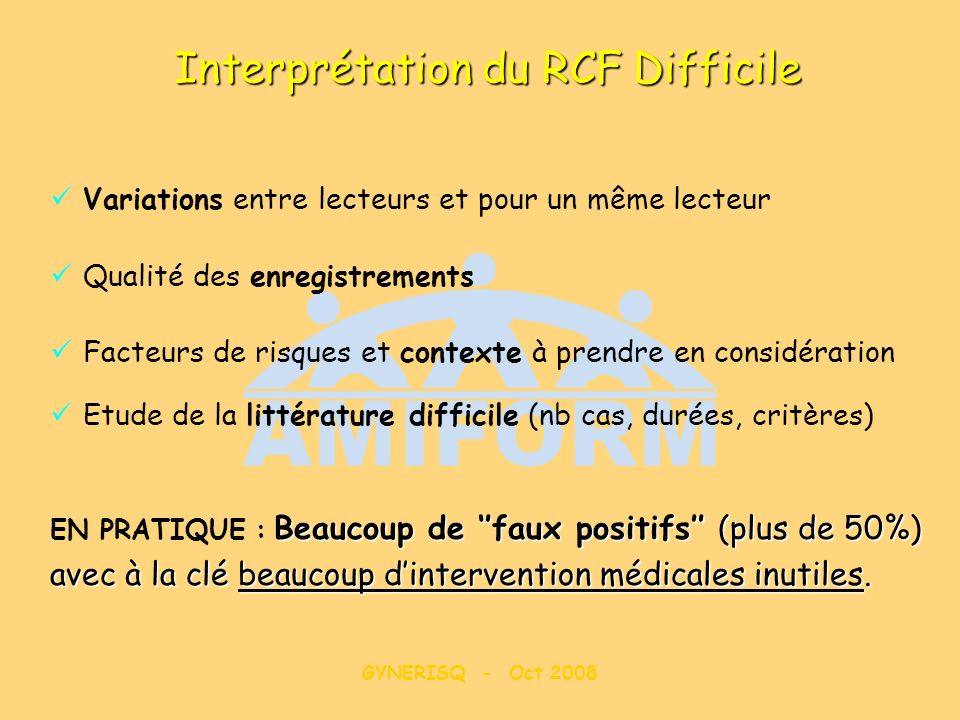 Interprétation du RCF Difficile
