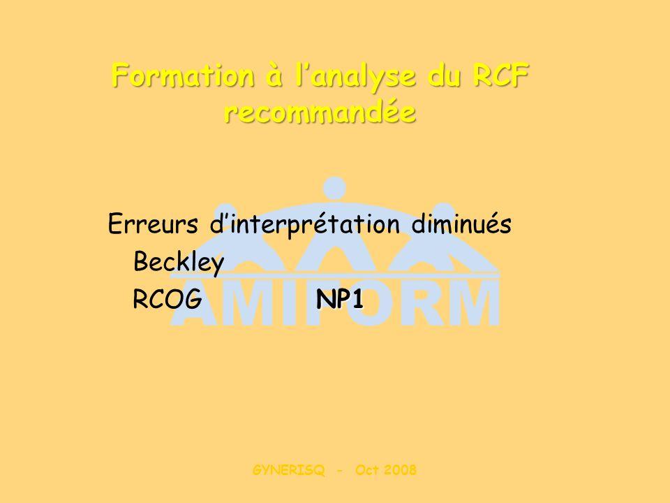 Formation à l'analyse du RCF recommandée