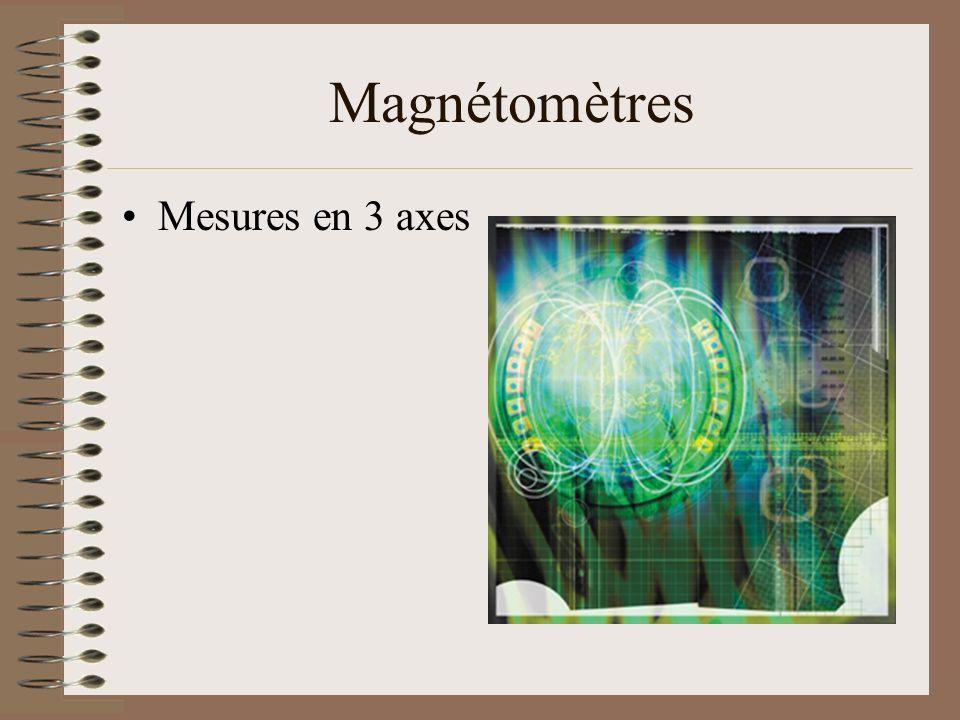 Magnétomètres Mesures en 3 axes
