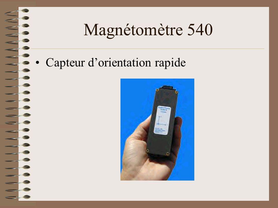Magnétomètre 540 Capteur d'orientation rapide