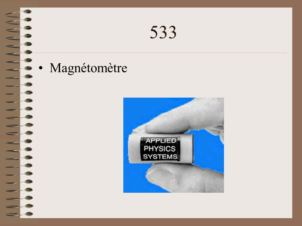 533 Magnétomètre