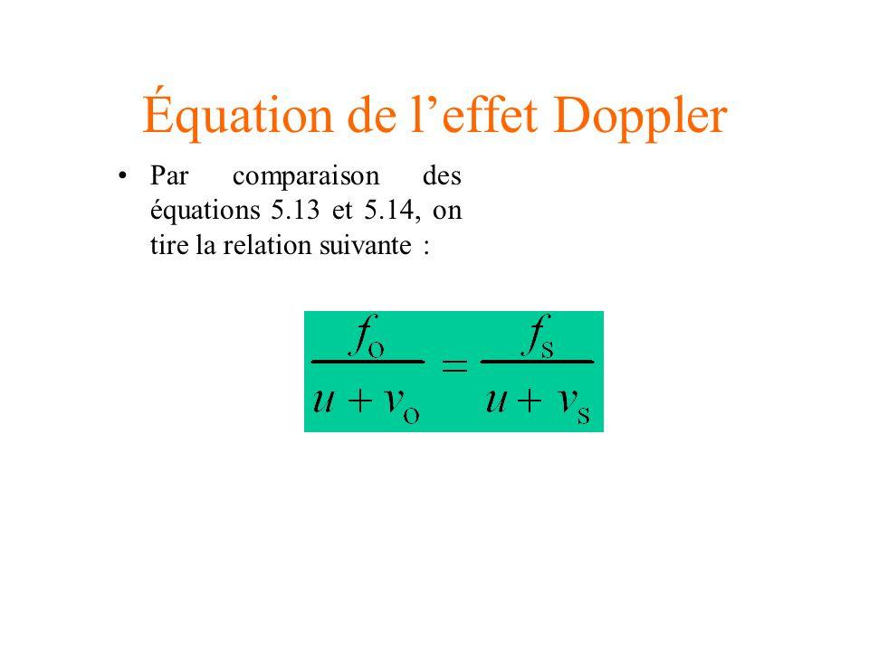 Équation de l'effet Doppler
