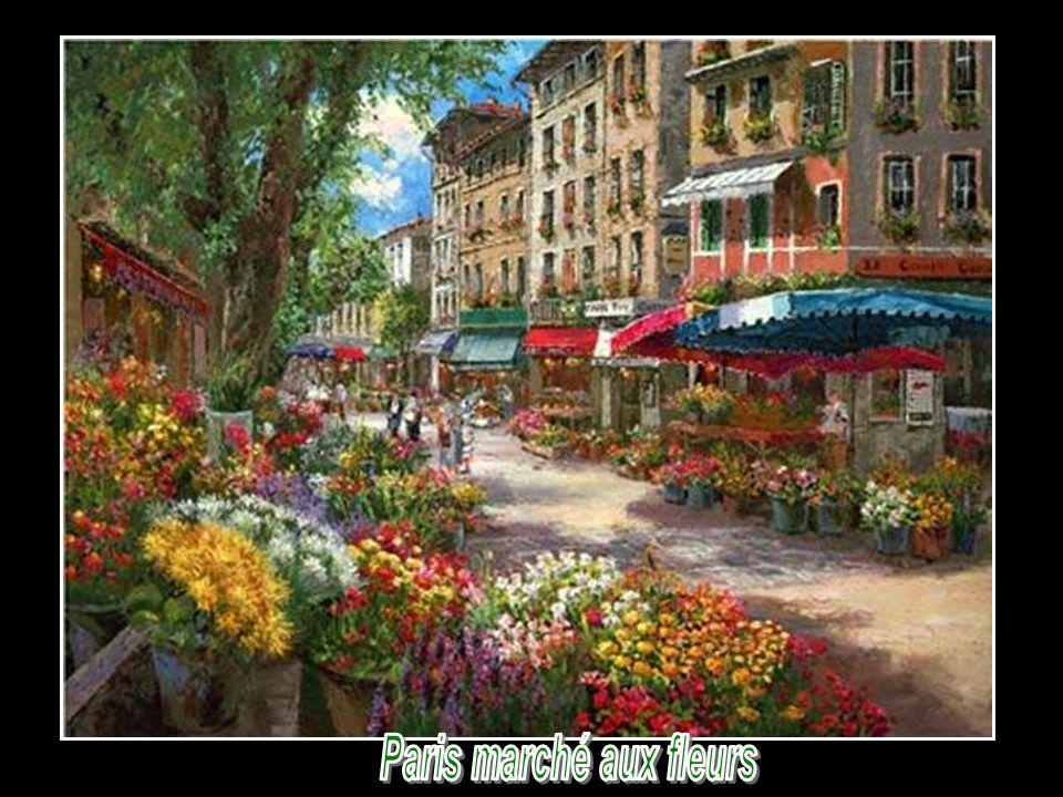 Paris marché aux fleurs