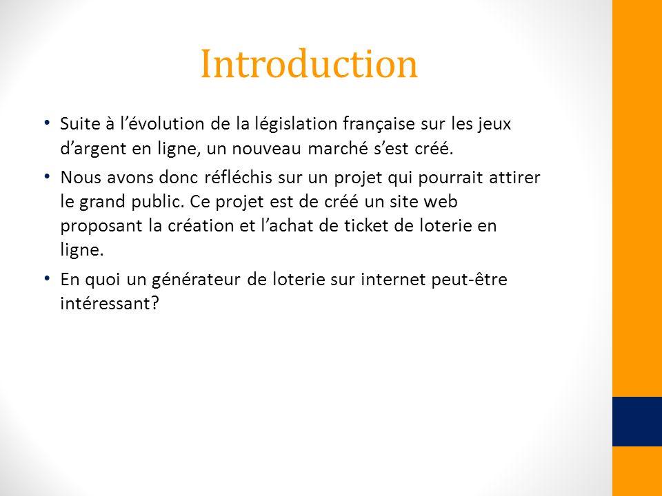 Introduction Suite à l'évolution de la législation française sur les jeux d'argent en ligne, un nouveau marché s'est créé.