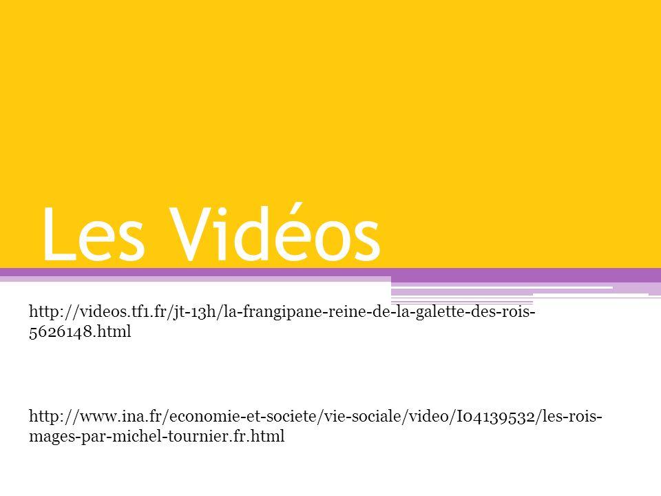 Les Vidéos http://videos.tf1.fr/jt-13h/la-frangipane-reine-de-la-galette-des-rois-5626148.html.