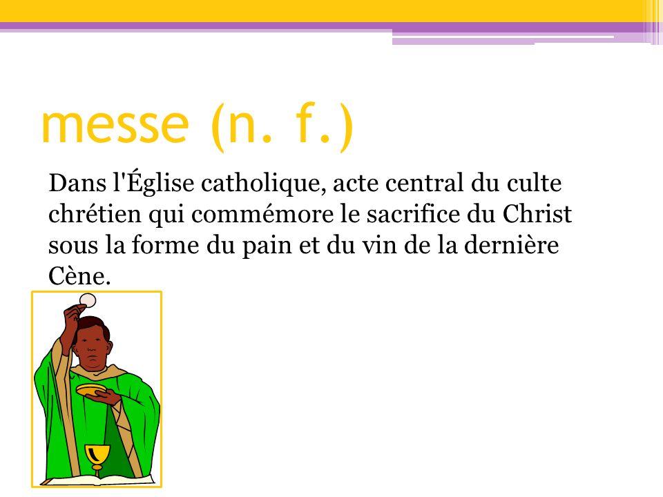 messe (n. f.)