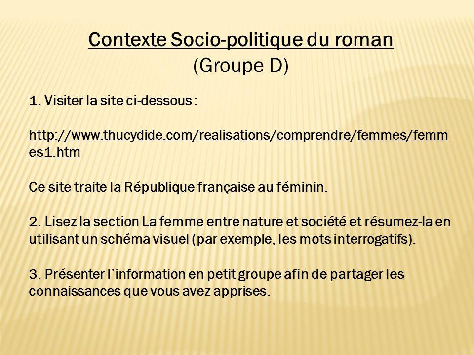 Contexte Socio-politique du roman