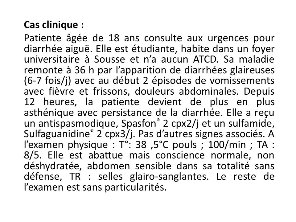 Cas clinique :