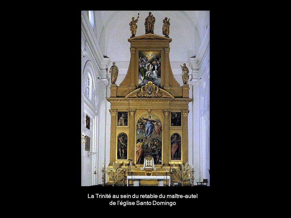 La Trinité au sein du retable du maître-autel