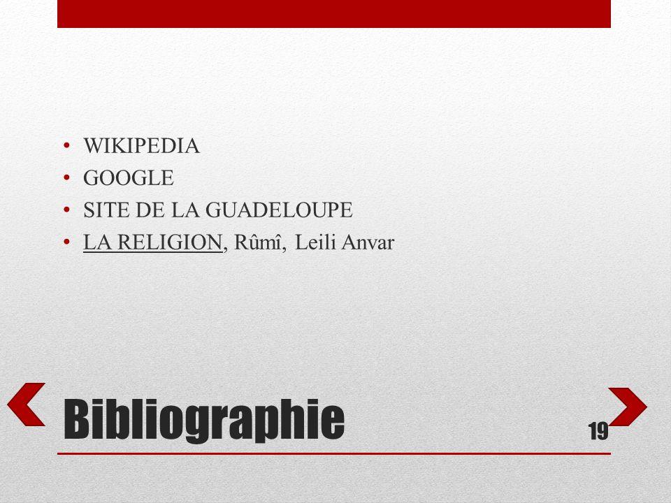 Bibliographie WIKIPEDIA GOOGLE SITE DE LA GUADELOUPE