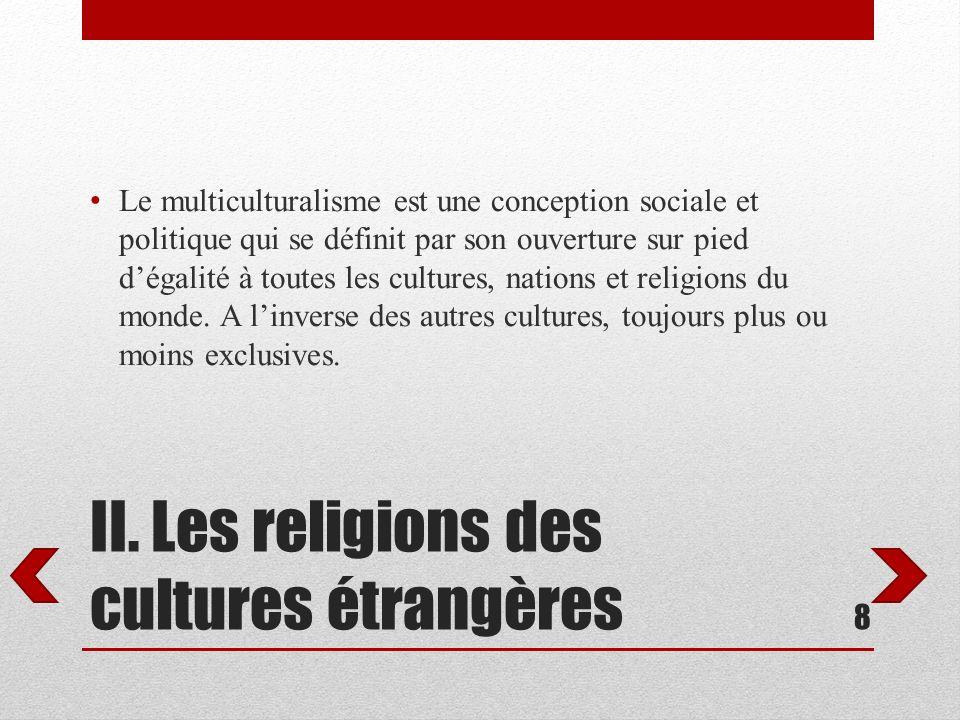 II. Les religions des cultures étrangères