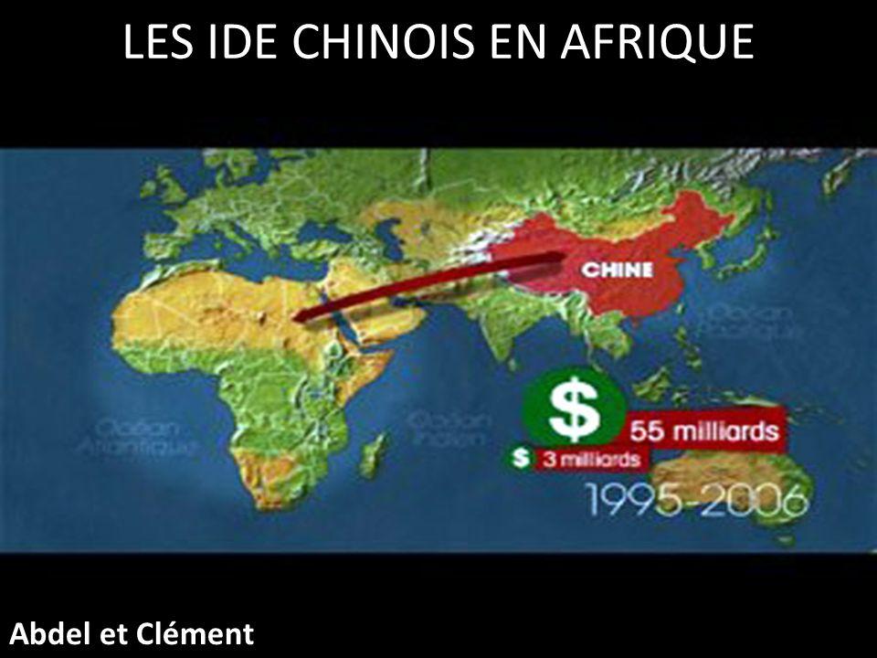 LES IDE CHINOIS EN AFRIQUE