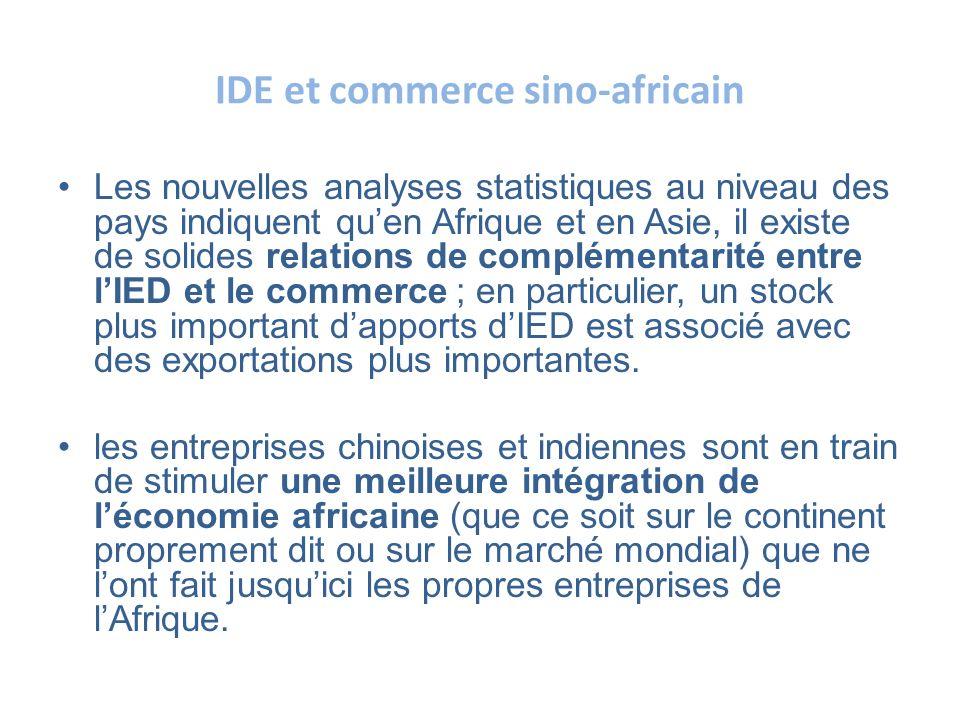 IDE et commerce sino-africain