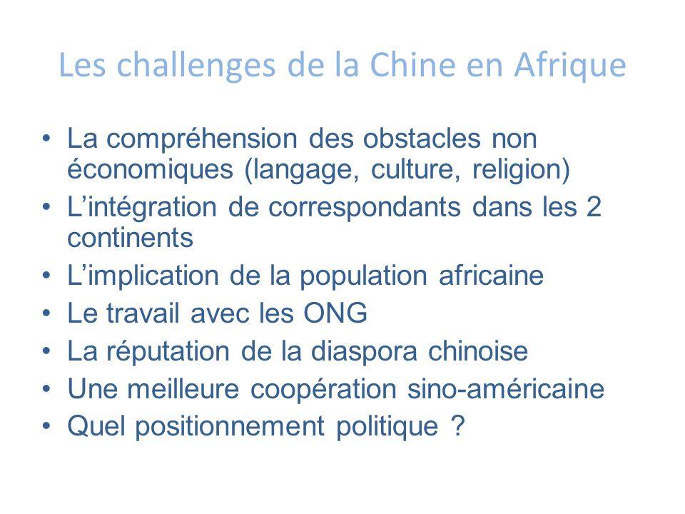 Les challenges de la Chine en Afrique