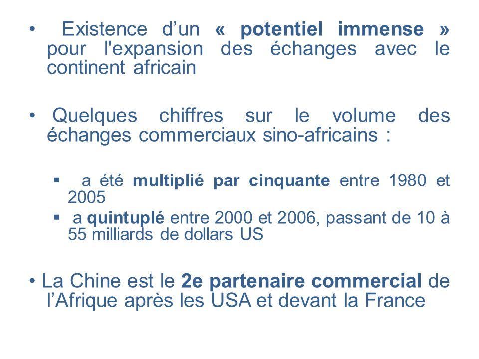 Existence d'un « potentiel immense » pour l expansion des échanges avec le continent africain