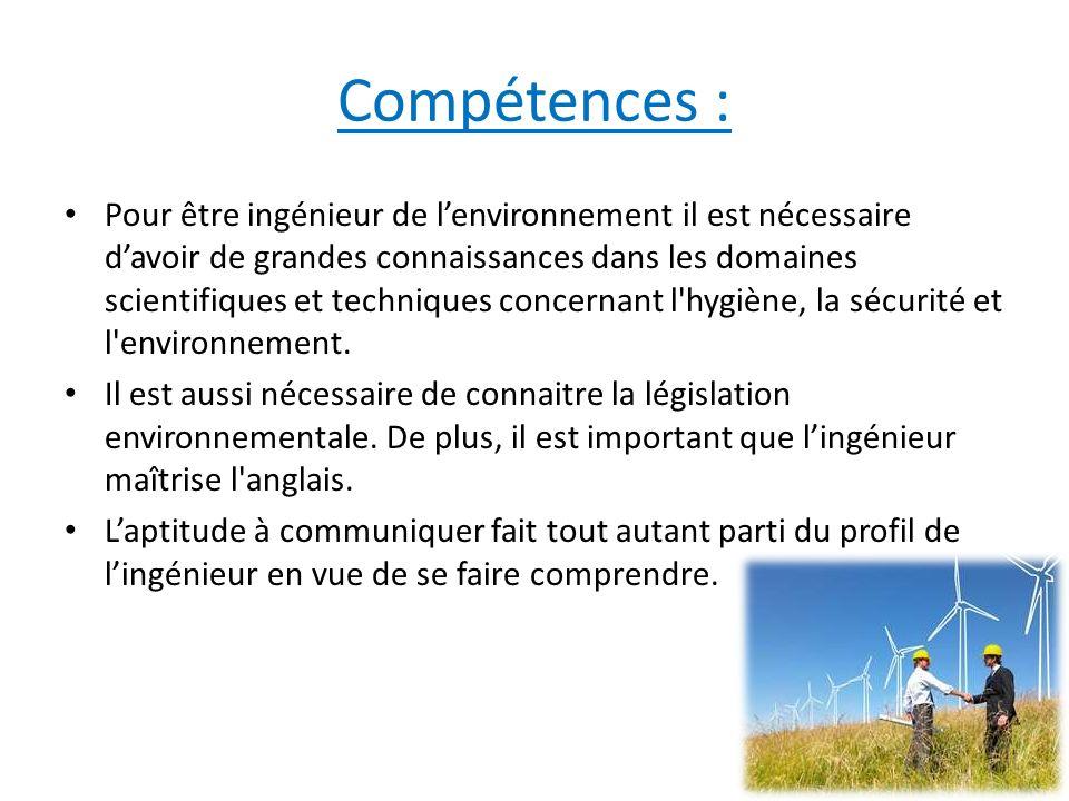 Compétences :