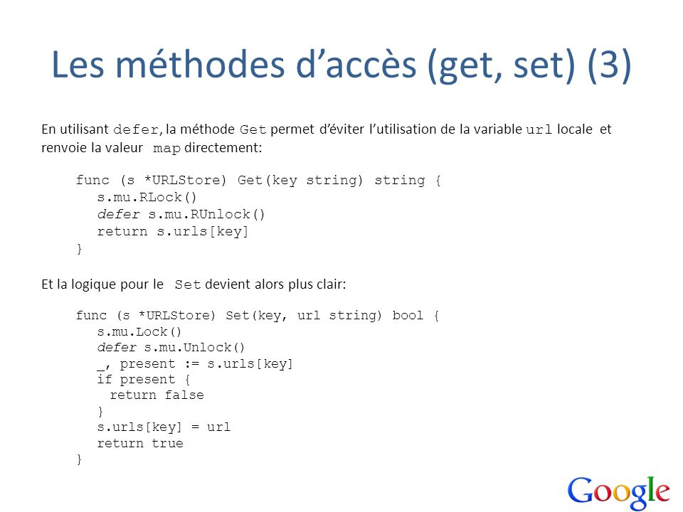 Les méthodes d'accès (get, set) (3)