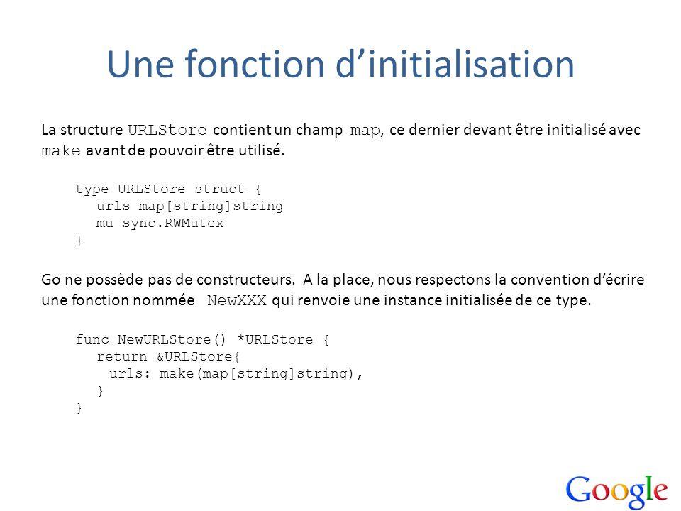Une fonction d'initialisation