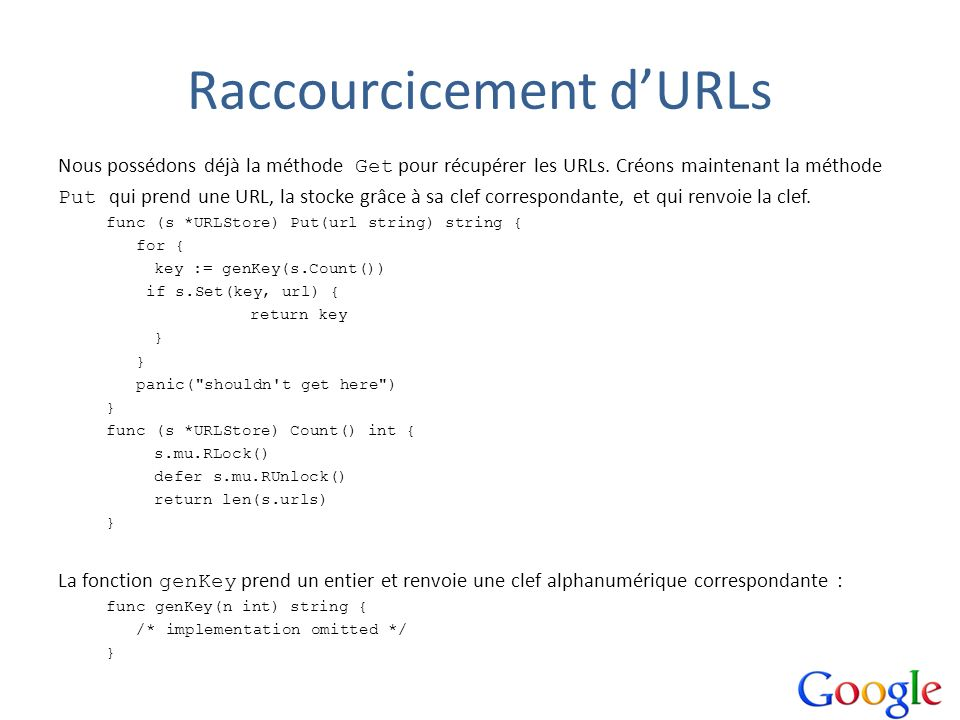 Raccourcicement d'URLs