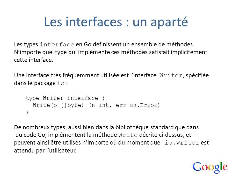 Les interfaces : un aparté