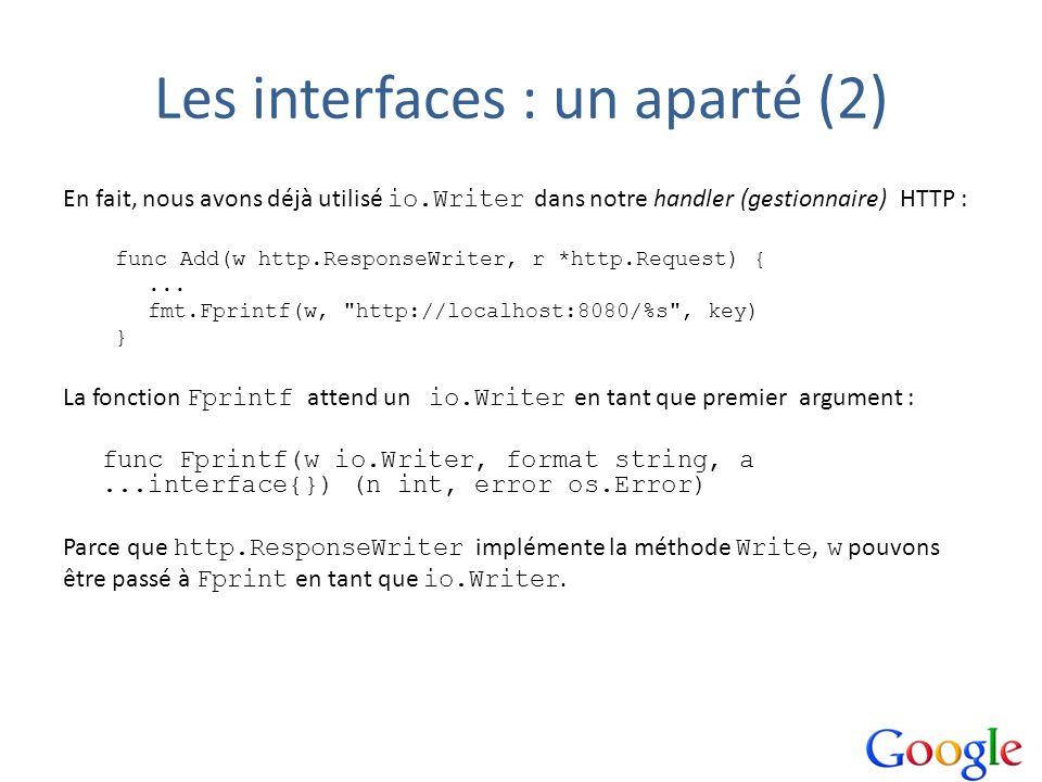 Les interfaces : un aparté (2)
