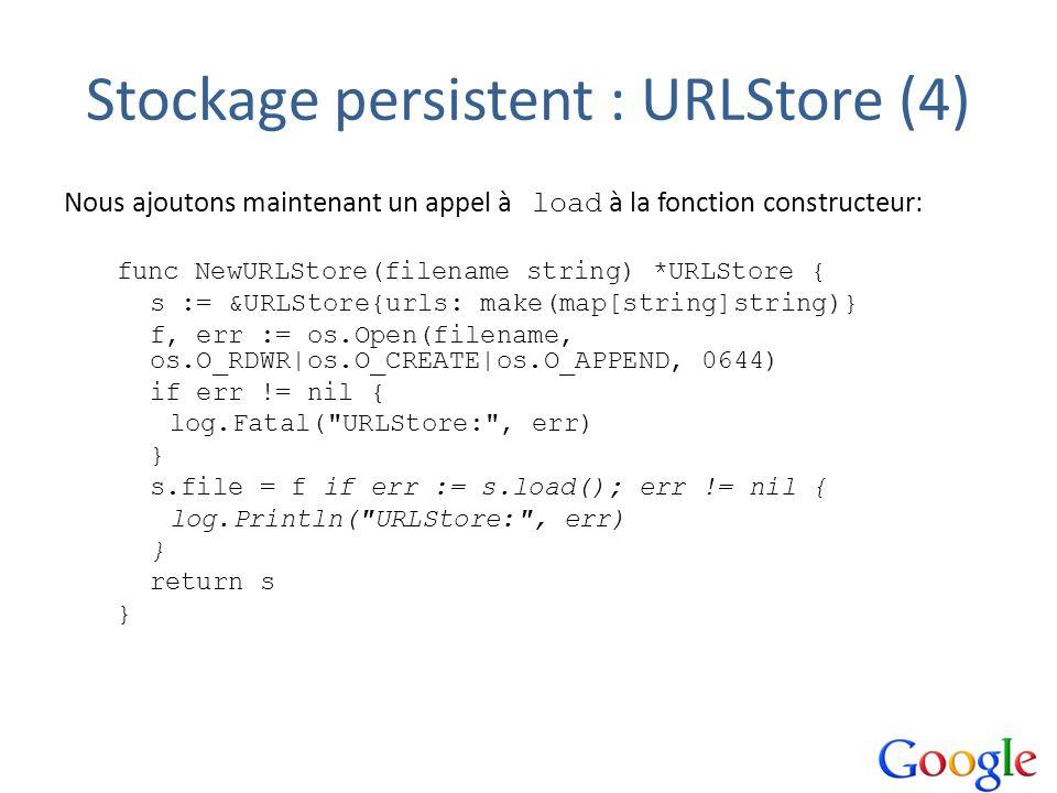 Stockage persistent : URLStore (4)