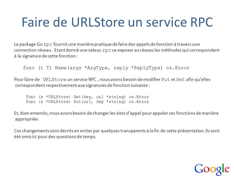 Faire de URLStore un service RPC