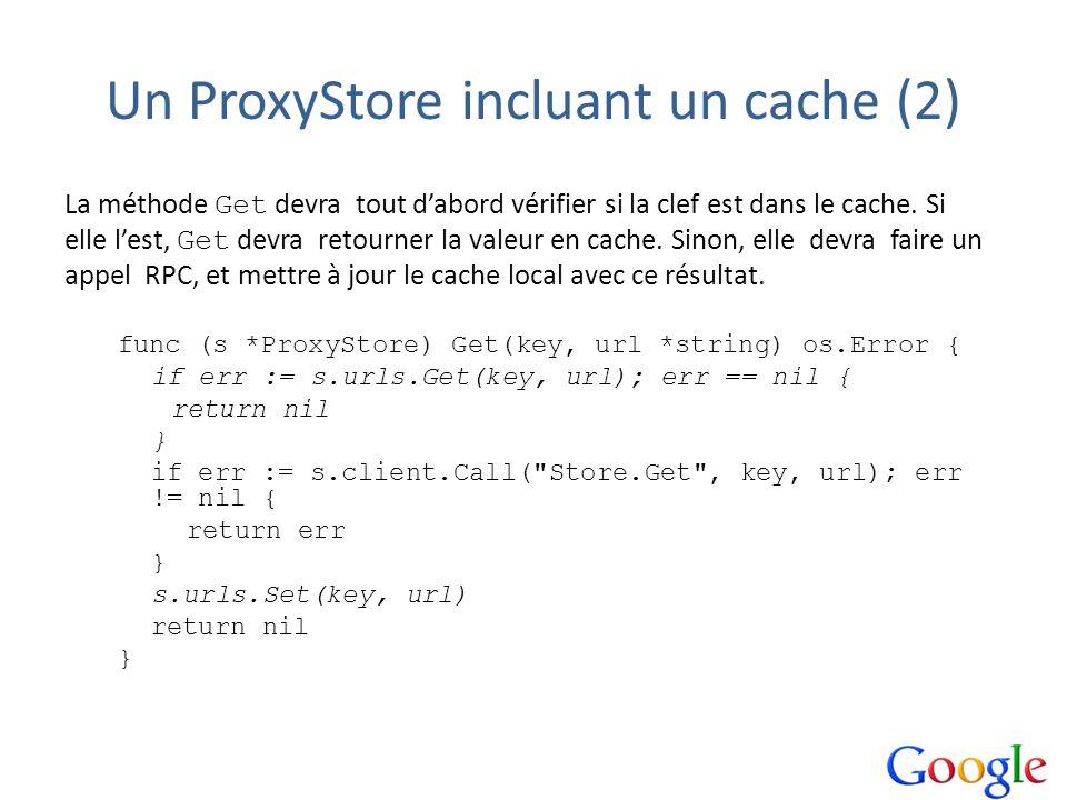 Un ProxyStore incluant un cache (2)