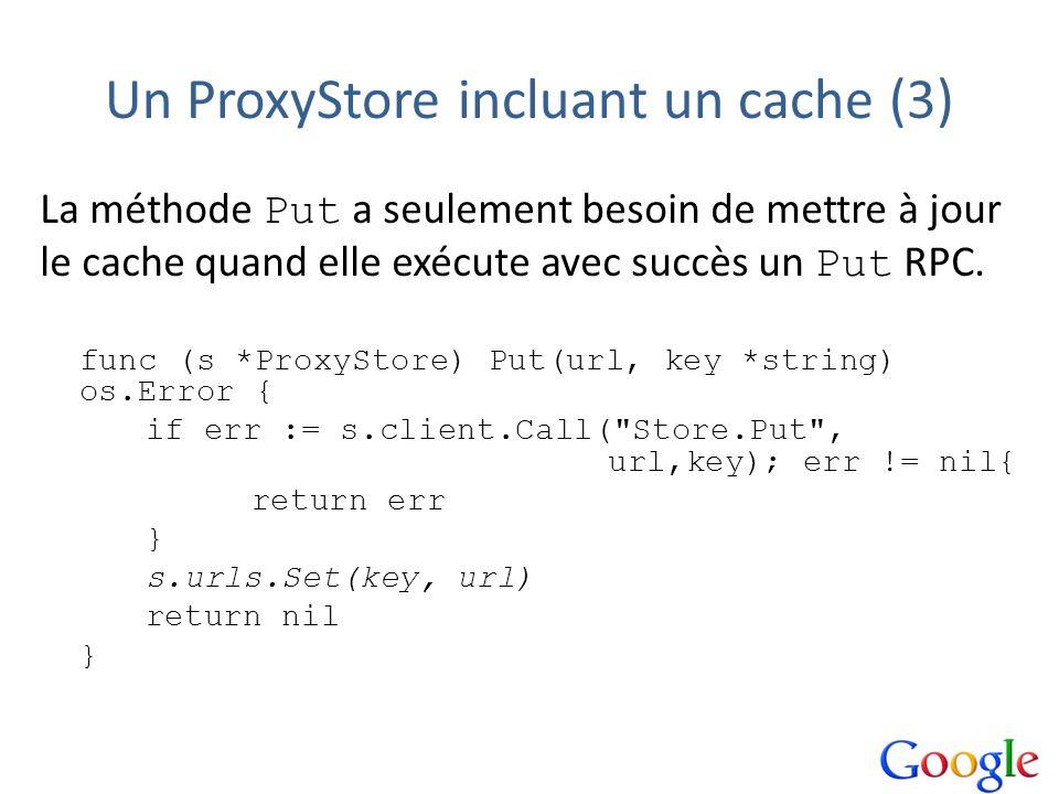 Un ProxyStore incluant un cache (3)