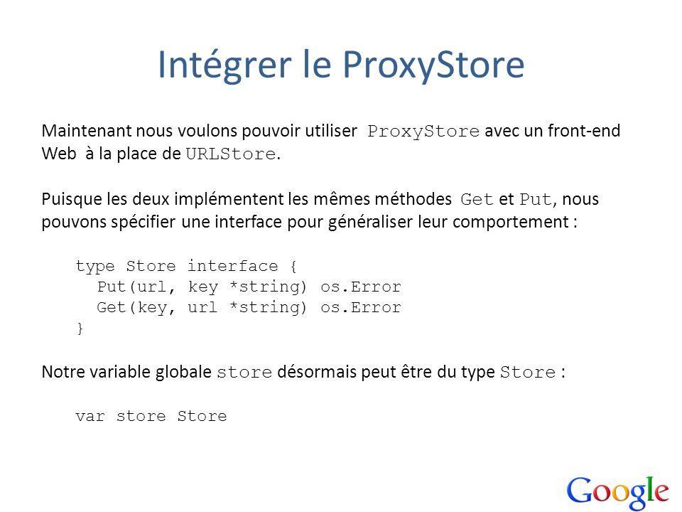 Intégrer le ProxyStore