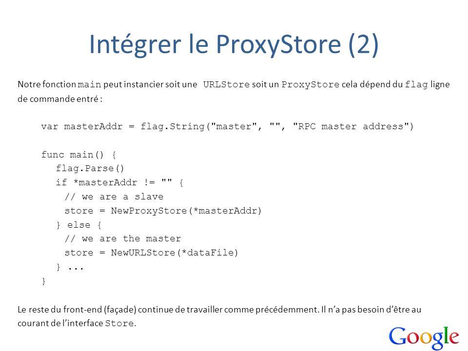 Intégrer le ProxyStore (2)