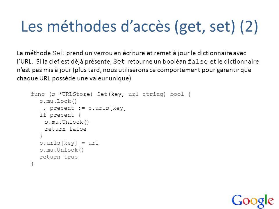 Les méthodes d'accès (get, set) (2)
