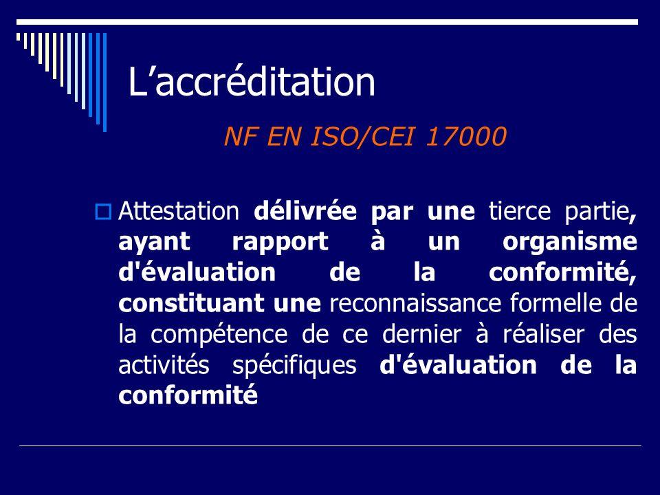 L'accréditation NF EN ISO/CEI 17000