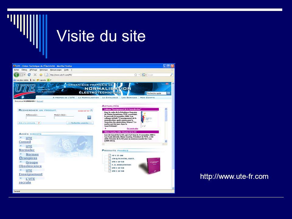 Visite du site http://www.ute-fr.com