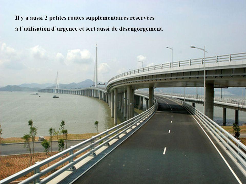 Il y a aussi 2 petites routes supplémentaires réservées