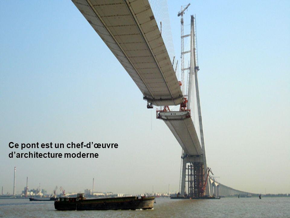 Ce pont est un chef-d'œuvre d'architecture moderne