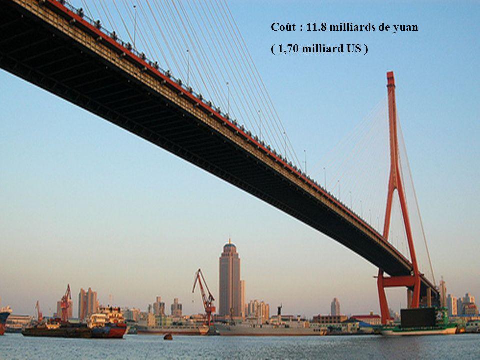 Coût : 11.8 milliards de yuan