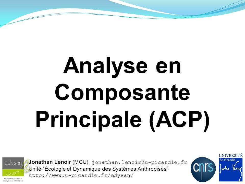 Analyse en Composante Principale (ACP)