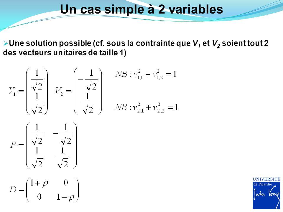 Un cas simple à 2 variables