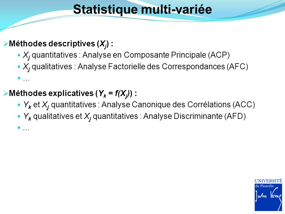 Statistique multi-variée