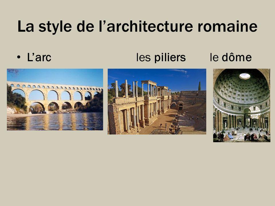 La style de l'architecture romaine
