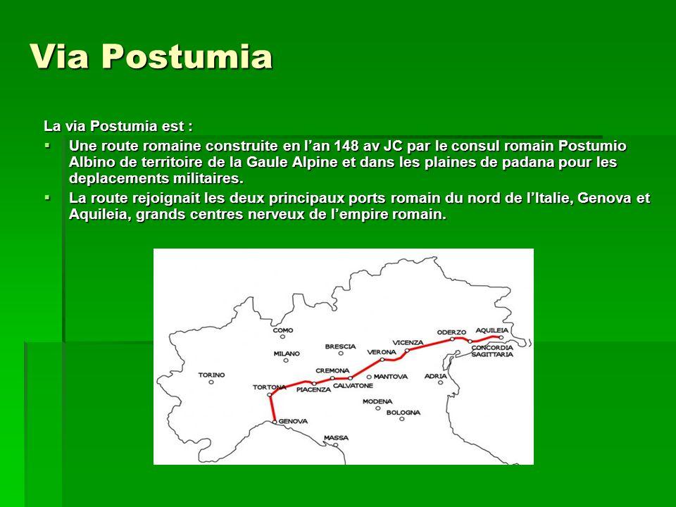 Via Postumia La via Postumia est :